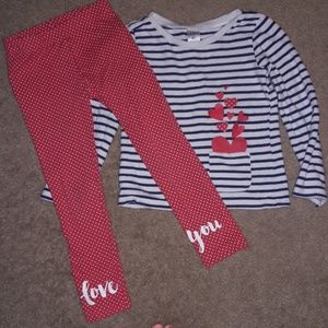 Long sleeve shirt and matching pants set